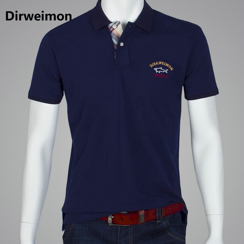 models 2020 brand polo shark men clothing men polo shirt Summer style pure color short sleeve solid us Size 6XL 7XL 8XL 9XL10XL