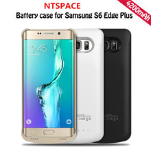 NTSPACE 4200mAh External Battery Power Bank Cover for S6 Edge Plus Battery Case For Samsung Galaxy S6 Edge Plus G9250 Power Case