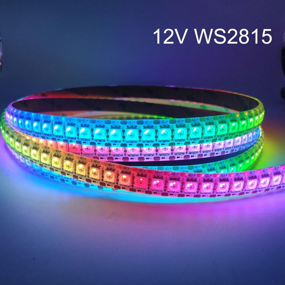 Пиксельная Светодиодная лента WS2815 (WS2812B WS2813 обновленная), 12 В, RGB, индивидуально адресусветодиодный Светодиодная лента с двойным сигналом, 30/...