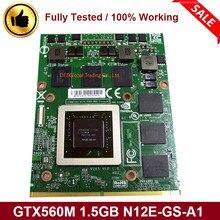 GTX560M GTX 560M N12E-GS-A1 VGA Graphics Grafikkarte für Dell Alienware Laptop M15X R1 R2 M17X R1 R2 R3 m18X R1 GDDR5 1,5 GB