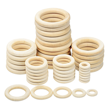 Wooden Ring Baby Teether Circle  Natural Wood Rodent Teething Ring Toy Montessori DIY Nursing Baby Gift Ornaments Accessories