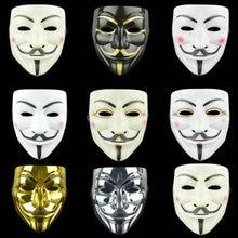 Hot Movie V For Vendetta Mask PVC Mask Cosplay Full Face Film Theme Vendetta Mask Hacker Halloween Grimace Masks Supplies Toys