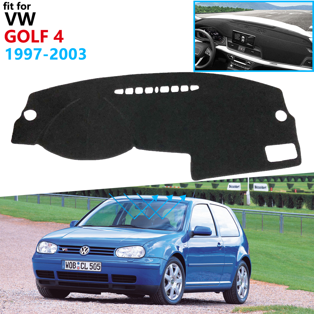 Dashboard Cover Protective Pad for Volkswagen VW Golf 4 MK4 1997 2003 1J Car Accessories Dash Board Sunshade Carpet Anti-UV 2002