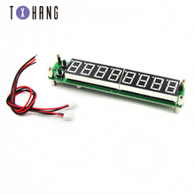 цена на 0.1-60MHz 20MHz~ 2.4GHz RF Singal Frequency Counter Tester Green 8 LED Meter Measurement Module FOR Ham Radio Amplifier