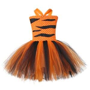 Image 2 - Kaplan kız Tutu elbise kıyafet hayvanat bahçesi hayvan Toddler bebek kız fantezi performans doğum günü partisi elbiseleri çocuklar cadılar bayramı kostümleri Set