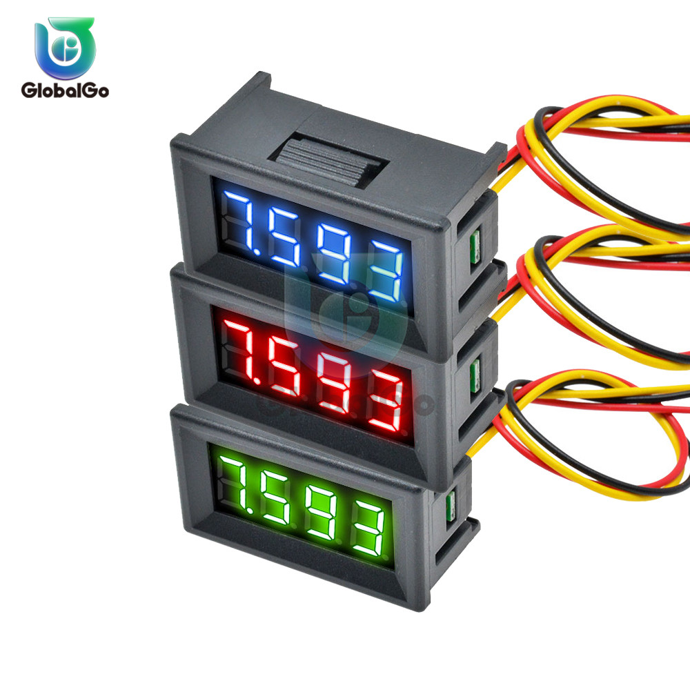 0.28 0.36 Inch DC 0-100V 3 Wire Mini Voltage Meter Voltmeter Gauge LED Display Digital Voltmeter Meter Detector Monitor Panel