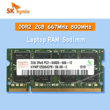 Sk Hynix Ddr2 2Gb 667Mhz 800Mhz Ram Sodimm Laptop Geheugen Pc2-5300S 6400S 1gb 4Gb
