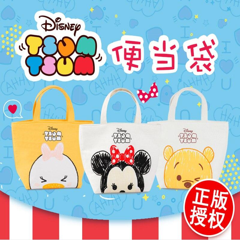 Disney dos Desenhos Simples e Prático à Prova Animados Minnie Pooh Urso Daisy Crianças Adulto Dwaterproof Água Lancheira Bolsa Isolamento Conveniente Almoço