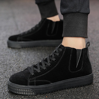 2019 Handmade suede men's casual shoes luxury brand lightweight breathable driving shoes solid color comfortable big size 39 47