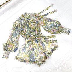 Top Quality Runway Playsuits 2020 Spring Summer New Holiday Style America Fashion Natural Silk Overall