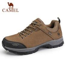 อูฐผู้ชายรองเท้าหนังแท้ทนทาน Anti Slip Warm Breathable ยางกลางแจ้งปีนเขา Trekking รองเท้า