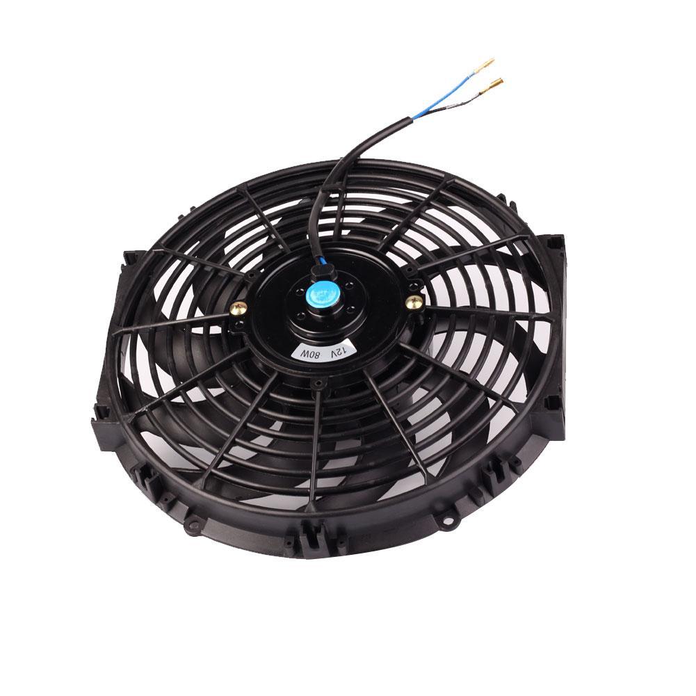 "For Gmc 10/"" Inch Eletric Fan High Power Abs Plastic Radiaotr Cooler 80W 12V Blue"