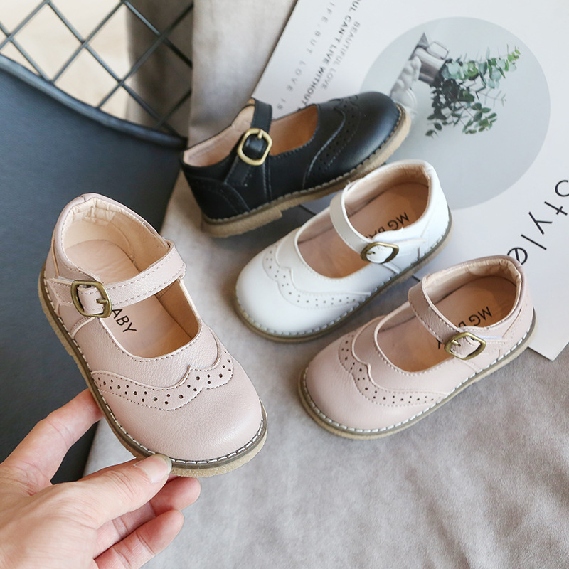 2020 New Boys Leather Shoes Casual Girls Single Shoes Spring And Autumn Performance Shoes Children's Leather Shoes