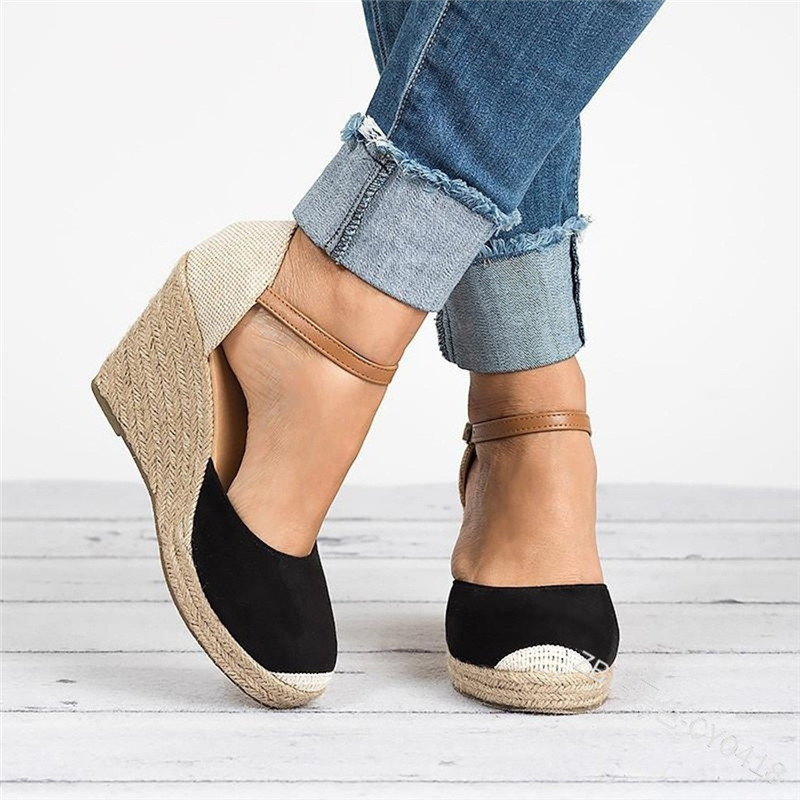 2019 Fashion Spring Autunm Shoes Woman Solid Color Fish Mouth Wedge High Heels Young Daily Women Shoes zapatos de mujer in Women 39 s Pumps from Shoes