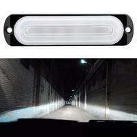 6 lumière LED barre travail lumière 4WD barre de LED voyant d'avertissement voiture camion SUV inondations tache Offroad conduite brouillard lampe 12V super lumineux 6000K