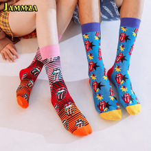 Big tongue Europe Brand Men Socks Cotton Fashion Hiphop for Gift Skateboard Punk Style High Quality Art Funny