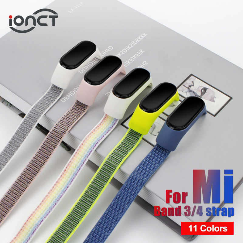 IONCT Nylon band Voor Xiao mi mi band 4 strap smart armband Soft sport Correa Pulseira mi band 3 band mi band Smart accessoires