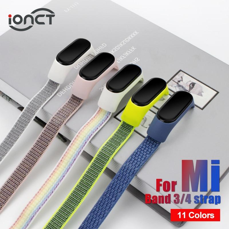 IONCT Nylon Strap For Xiaomi Mi Band 4 Strap Smart Bracelet Soft Sport Correa Pulseira Mi Band 3 Strap Miband Smart Accessories