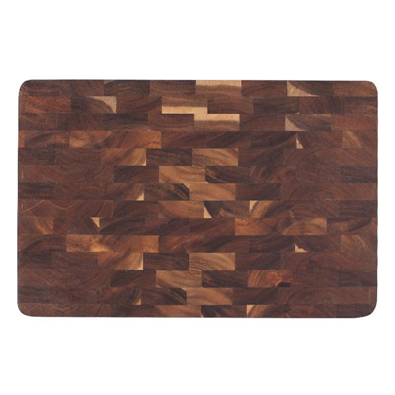 Placa de rectángulo de madera picar Redondo Cortar Servir Pizza sólido de madera de acacia