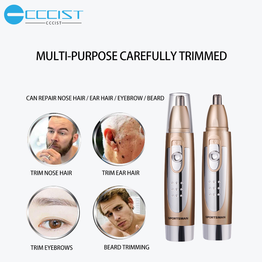 CCCISST 4 In 1 Electric Nose Ear Trimmer For Nose Hair Trimmer Clipper Waterproof  Lasting Removal Shaving Beard Trimmers Tools