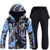Winter Ski Suit For Men Waterproof Ski Jacket Pants Set Outdoor Sports Windproof Warm Skiing and Snowboarding Jacket Men Brand