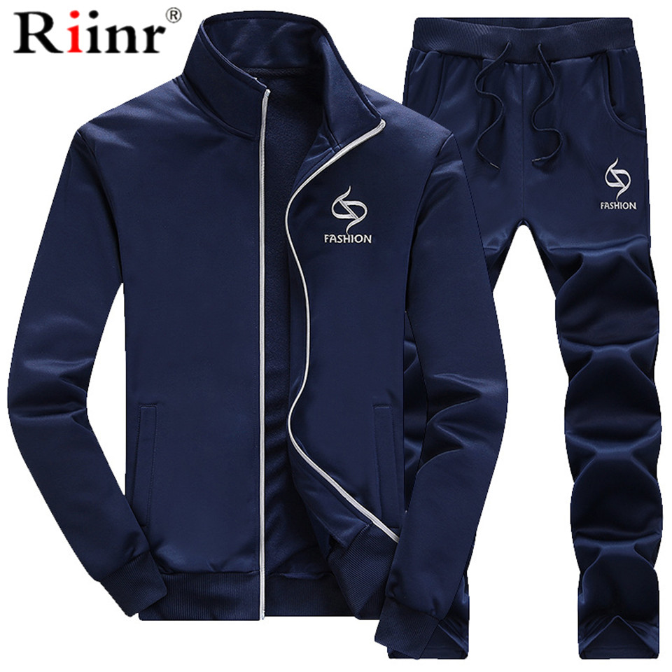 Tracksuits Men 2PC Outwear Sportsuit Sets Male Sweatshirts Men Set Clothing+Pants Hoodies Plus Size Moleton Masculino Coats 2019