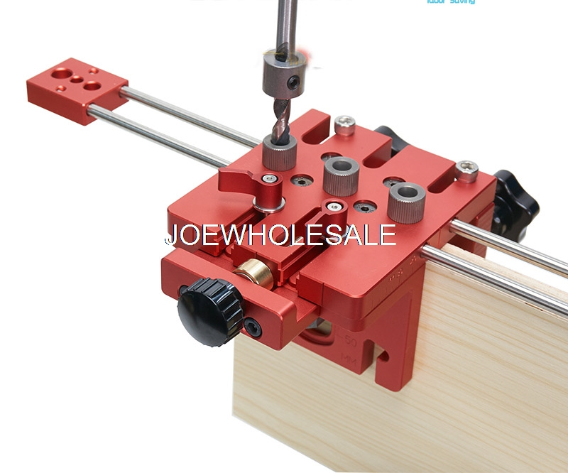 Woodworking Tool,DIY Woodworking Joinery High Precision Dowel Jigs Kit,3 In 1 Drilling Locator,woodworking Drilling Guide Kit