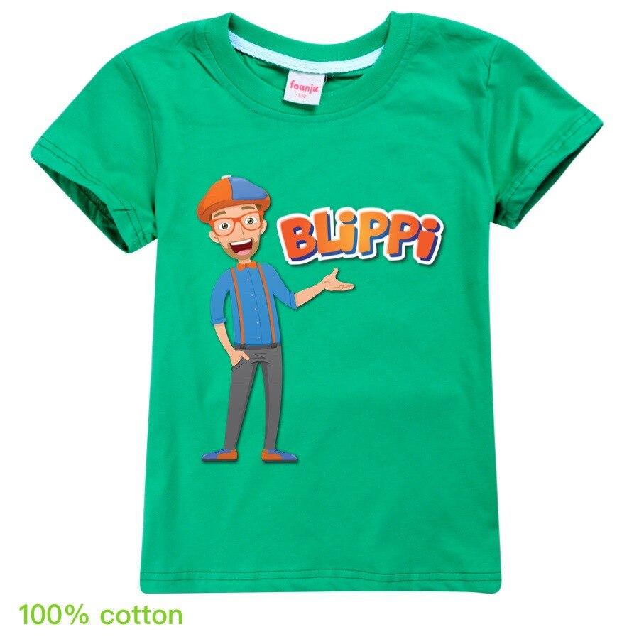 Toddler Girl Tops BLiPPi Children Cartoon T-shirt 2020 Boys Cotton T-Shirts Kids Fashion Summer Tops Tees for 2-14Y Teens Shirt 2