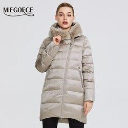 MIEGOFCE 2019 Зимняя женская коллекция женская теплая куртка и ощущение легкости куртка женская зима ветрозащитный стоячий воротник с капюшоном ...