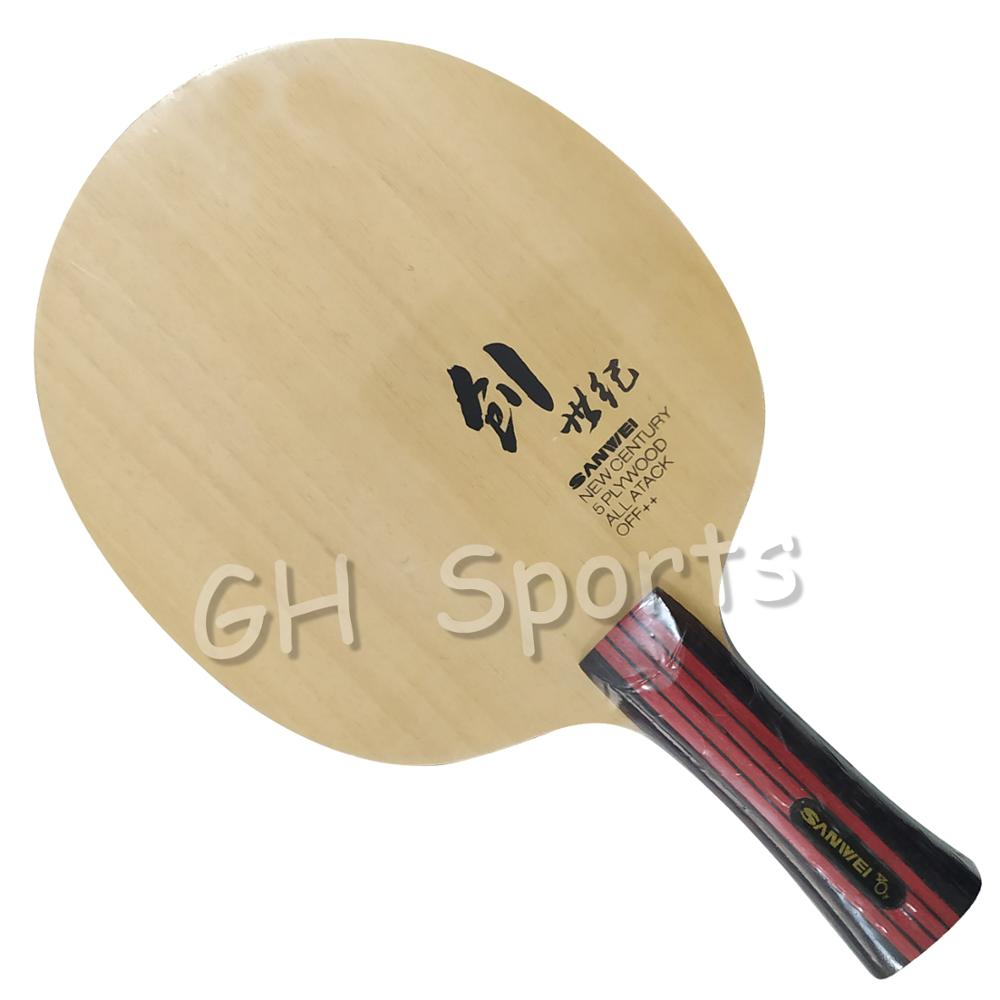 Sanwei CS (New Century) 5-Playwood, All-Attack, OFF++ Table Tennis Blade For Ping Pong Racket