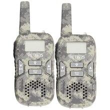 RETEVIS 2pcs RT33 Mini Walkie Talkie for Kids Child Hf Radio 0.5W PMR FRS/GMRS 8/22CH VOX PTT Flashlight LCD Display PMR446 Gift
