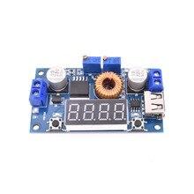 Module de Charge abaisseur de puissance réglable 5A CC/CV pilote de LED avec voltmètre USB