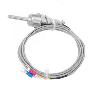 Image 3 - 2M K Tipi Sıcaklık Sensörü RTD Paslanmaz Çelik Termokupl Sıcaklık Probu 1/2 NPT Ayrılabilir 3 Pin Konnektör 6.6ft Kablo