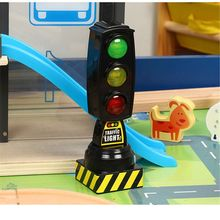 1PC Singing Traffic Light Toy Traffic Signal Model Road Sign Suitable For Brio Train Children Track Series Toy Accessories