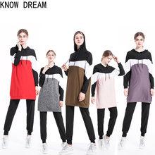 Saber sonho roupas femininas árabe muçulmano roupa esportiva casual wear conjunto de duas peças roupa de treino feminino lounge wear conjunto