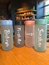 Matte Sports Water Bottle Couple Plasticdrink Water Cup Coffee Cup Gym Leak-Proof Mug Plastic Portable Drop-Proof Shaker Mug