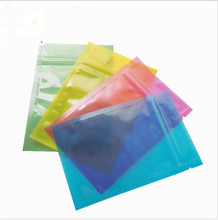 100pcs 8*12cm Colored Clear Plastic Zip Lock Bag  Smell Water Proof Zipper Reclosable Pouches
