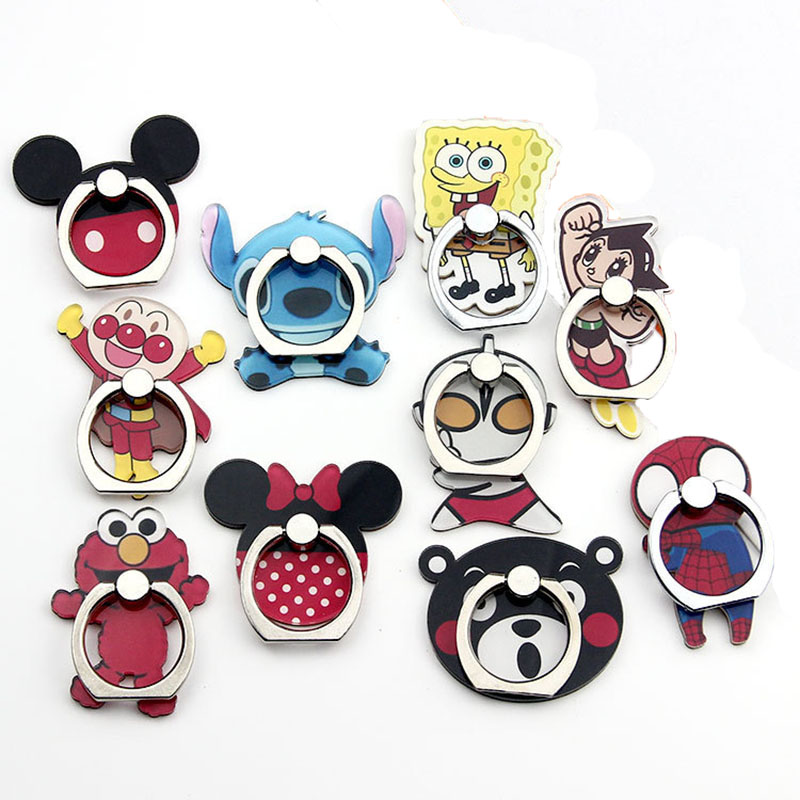 Cartoon Character Phone Holder Ring Mobile Phone Stand Mickey Minnie Stitch Finger Phone Ring Holder Support Celular