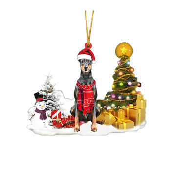 Dog Snowman Ornament  5
