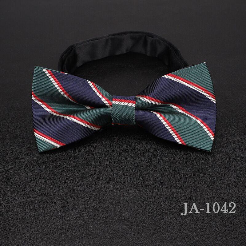 Дизайнерский галстук-бабочка, высокое качество, мода, мужская рубашка, аксессуары, темно-синий, в горошек, галстук-бабочка для свадьбы, для мужчин,, вечерние, деловые, официальные - Цвет: 1042