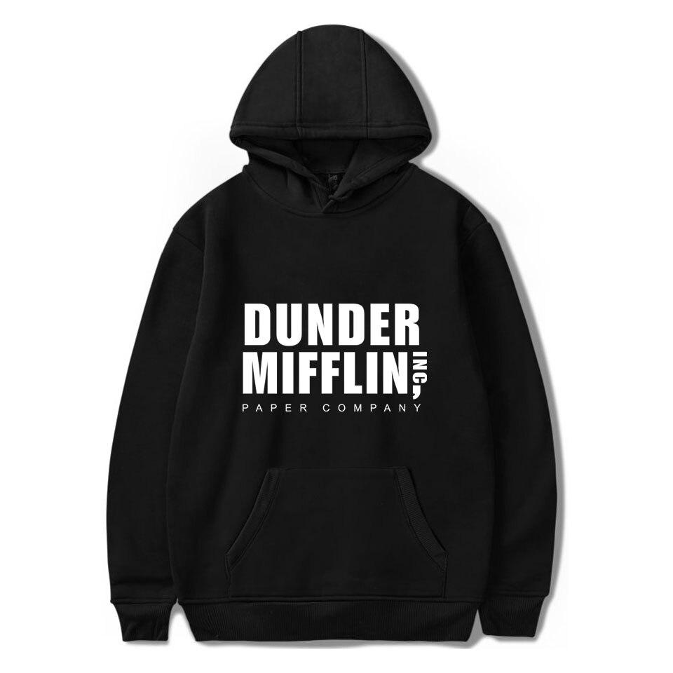Dunder Mifflin Men's Hoodies Sweatshirts The Office TV Show Hip Hop Hoodie Fashion Male Hoodies Sweatshirts EU Size Wholesale