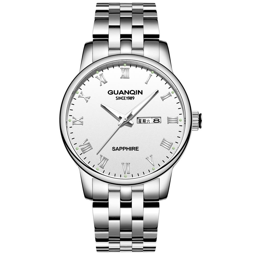 Мужские часы s 2019, сапфировые наручные часы, мужские часы s GUANQIN GS19131, светящиеся, автоматическая дата, неделя, мужские часы, кварцевые часы для...
