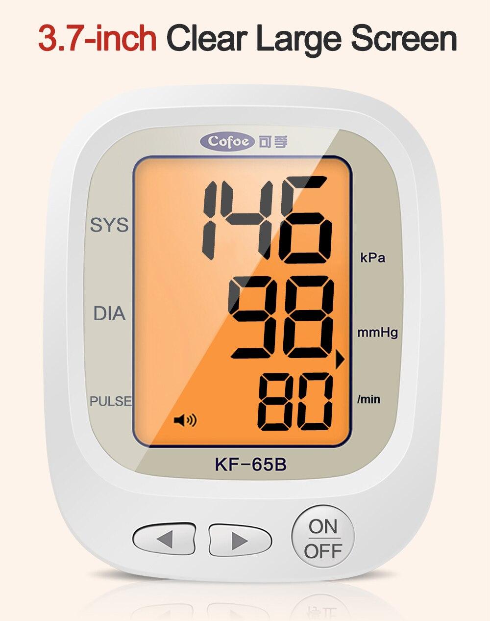 Cofoe automático monitor de pressão arterial braço