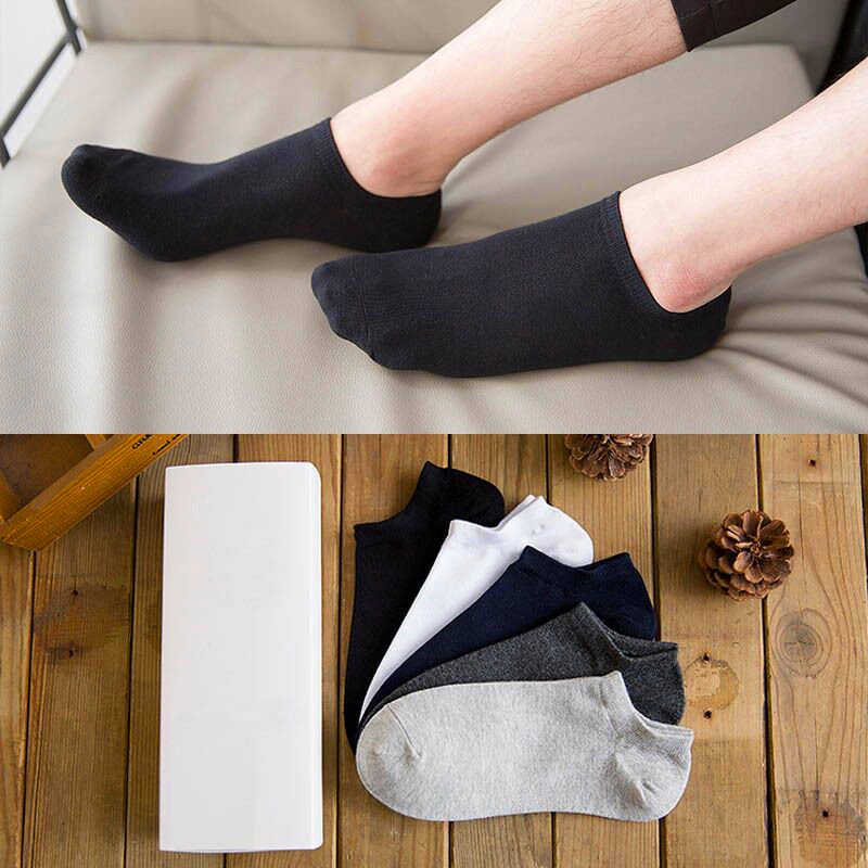 10pcs=5Pairs/lot Men Cotton Ankle Socks For Men's Business Spring Summer Casual Solid Color Short Socks Male Sock Slippers Meias