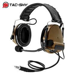 TAC-SKY COMTAC III Neue Abnehmbare Stirnband Silikon Ohrmuscheln Noise Jagd Sport Military Tactical headset peltor comtac iii CB