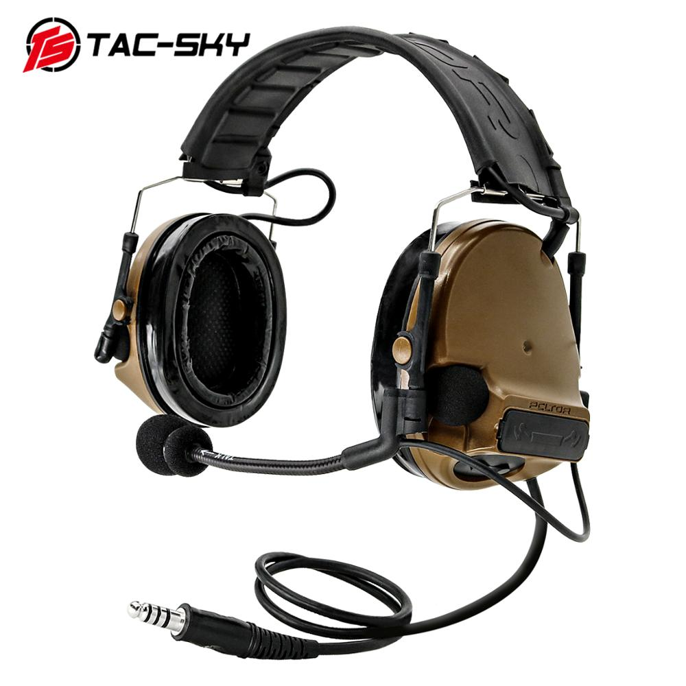 TAC-SKY COMTAC III New Detachable Headband Silicone Earcups Noise  Hunting Sports Military Tactical Headset Peltor Comtac Iii CB