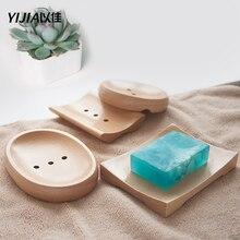 Ванная аксессуары разные стили из массива дерева креатив мыльница ящик ванная мыльница держатель слив мыло тарелка