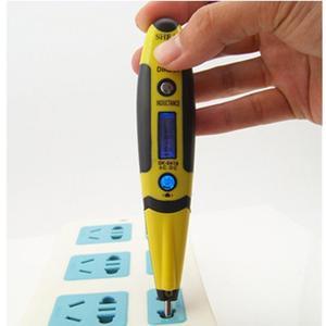 Image 4 - 1個デジタルテスト鉛筆多機能ac dc 12 220vマルチセンサー電気lcdディスプレイ電圧検出器テストペン