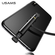 USAMS Type C Cable 5V-2A Fast Charging USB C Cable Game USB Wire 180 Degree fast charge Data for iPhone Samsung S9 S8 цена