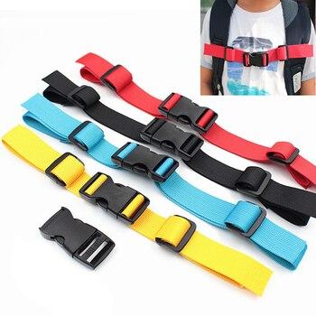 1PC Nylon Taktische Rucksack Brust Harness Gurtband Brustbein Einstellbar Dual Release Schnalle Tasche Teile Zubehör